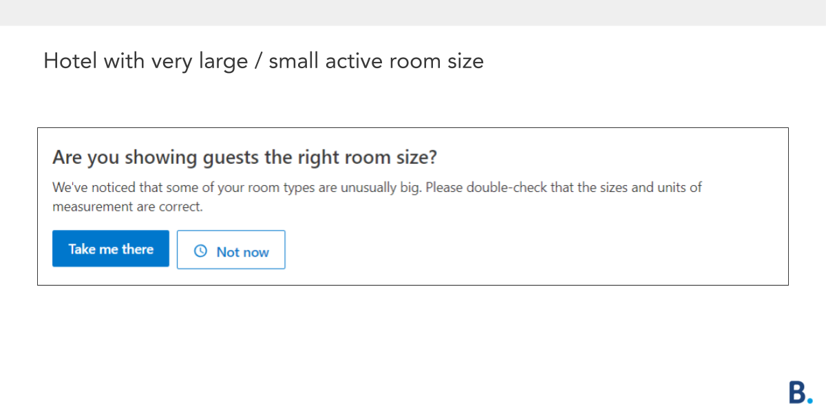 Hotel room size