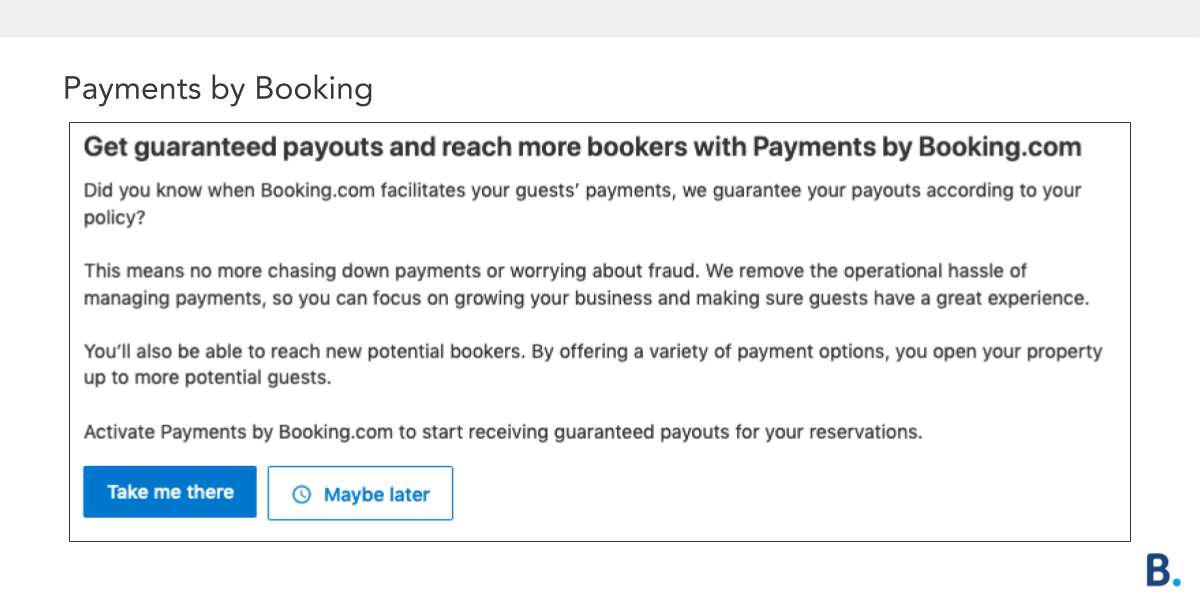 Payments by Booking