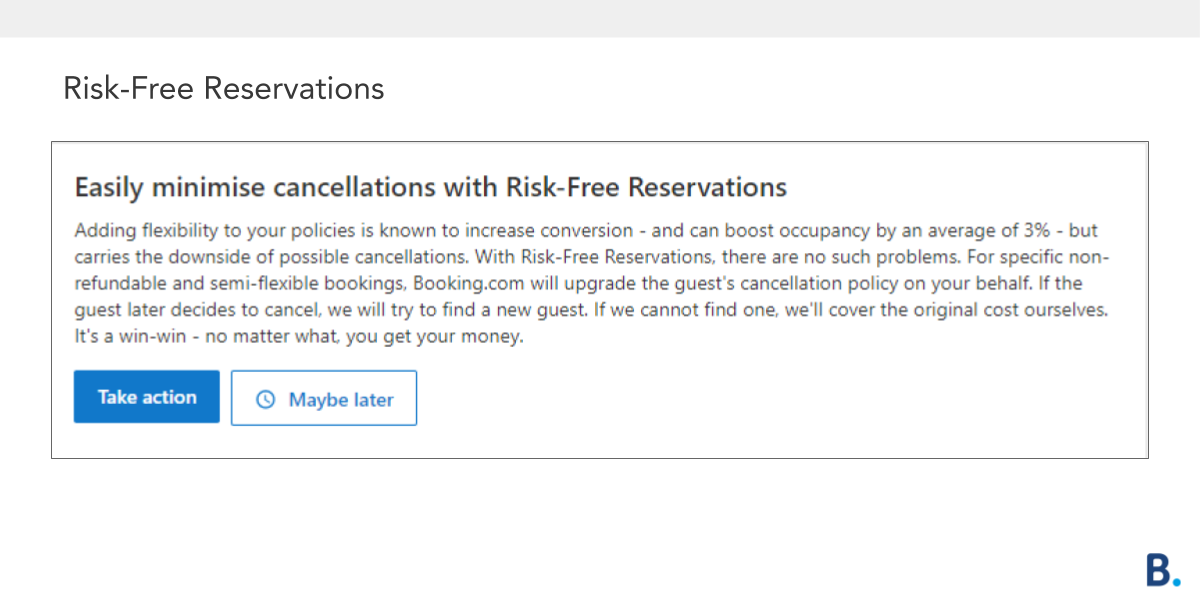 Risk Free Reservations